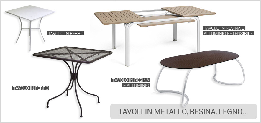 Tavoli In Metallo Da Esterno.Arredo Giardino Arredamento Bar Mobili Da Esterno